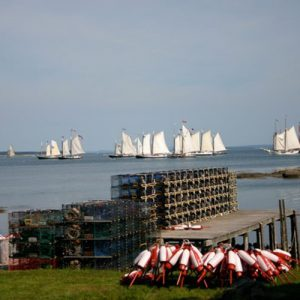 Sails in the distance. <i>Photo Credit: Ann Marie Maguire</i>